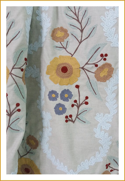 Hand Embroidered Rugs & Carpets